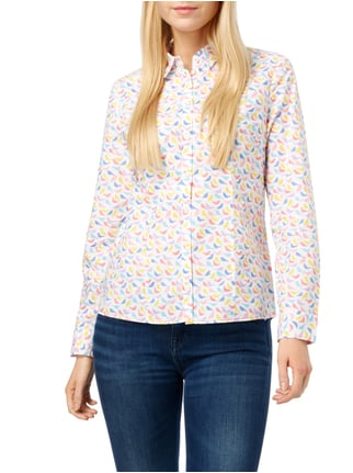 Christian Berg Women Bluse mit Allover-Muster Weiß - 1