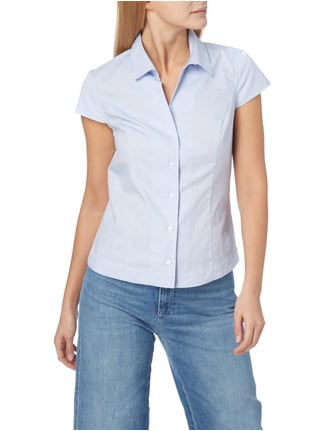 Christian Berg Women Bluse mit Webmuster Himmelblau - 1