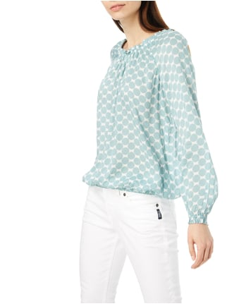 Christian Berg Women Off Shoulder Blusenshirt mit Punktemuster Mint - 1