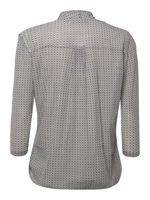 Christian Berg Woman Shirt in Wickeloptik Offwhite - 1