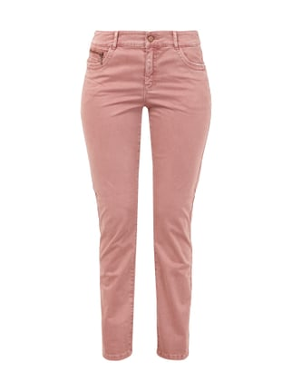 Slim Fit 5-Pocket-Hose mit Stretch-Anteil Rosé - 1
