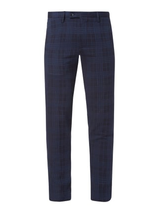 Slim Fit Business-Hose mit Tartan-Karo Blau / Türkis - 1