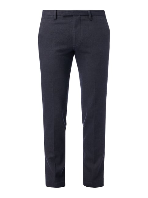 Slim Fit Chino mit Tunnelzug Blau / Türkis - 1