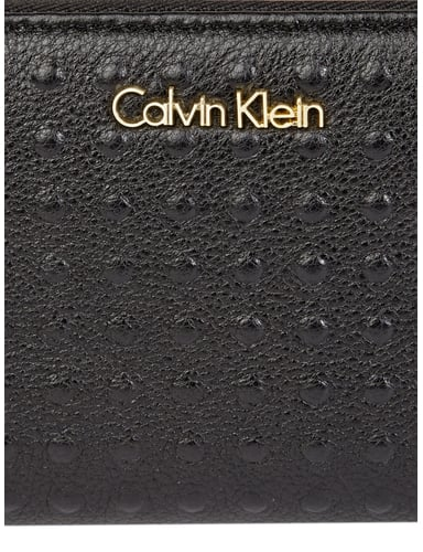 calvin klein leder geldb rse mit genoppter oberfl che in. Black Bedroom Furniture Sets. Home Design Ideas