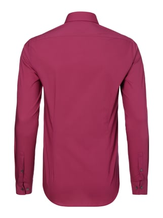 Calvin Klein Slim Fit Business-Hemd mit Kentkragen Fuchsia - 1