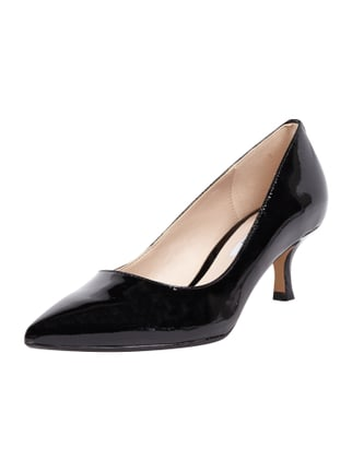 Pumps in Lackleder-Optik Grau / Schwarz - 1