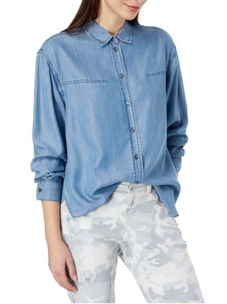 Closed Bluse in Denimoptik Hellblau - 1