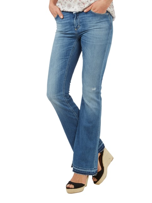 Closed Boot Cut Stone Washed Jeans mit Used Effekten Blau - 1