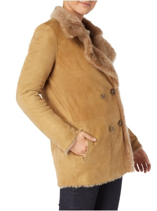 Closed Caban-Jacke aus Lammshearling mit Wendefunktion Camel - 1