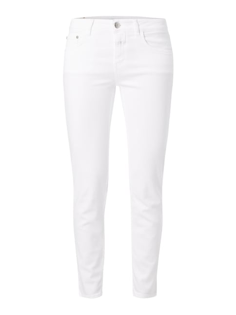 Coloured Slim Fit Jeans Weiß - 1