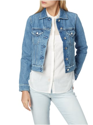 Closed Jeansjacke im Used Look Blau - 1