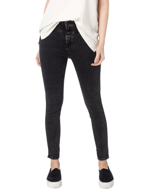 Closed Skinny Fit High Waist Jeans Dunkelgrau - 1