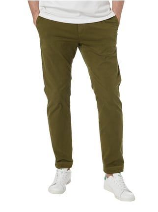 Closed Slim Fit Chino aus Baumwoll-Elasthan-Mix Olivgrün - 1