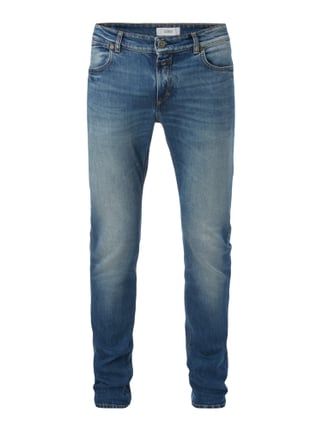 Stone Washed Slim Fit Jeans Blau / Türkis - 1