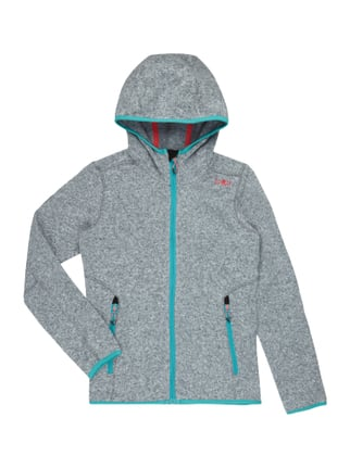 Fleecejacke in Strickoptik Grau / Schwarz - 1