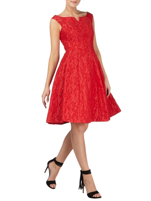 Coast Cocktailkleid mit floralem Muster in Rot - 1