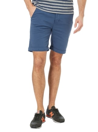 Colours & Sons Chinoshorts mit Knopfleiste Marineblau - 1