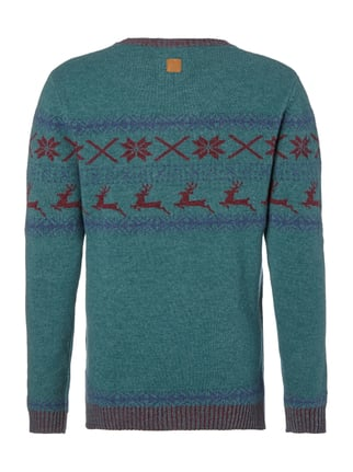 Colours & Sons Pullover mit Norweger-Dessin Weiß - 1