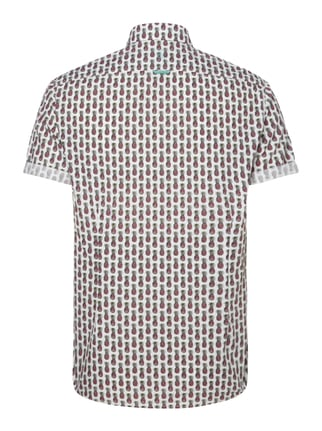 Colours & Sons Slim Fit Freizeithemd mit Ananasmuster Offwhite - 1