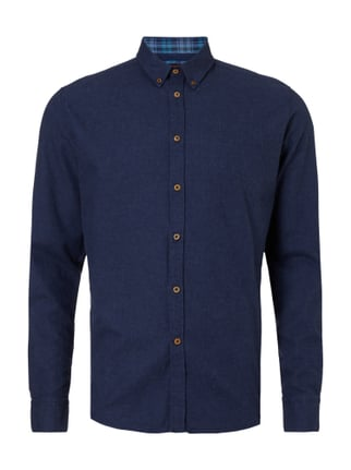 Slim Fit Freizeithemd mit Button-Down-Kragen Blau / Türkis - 1
