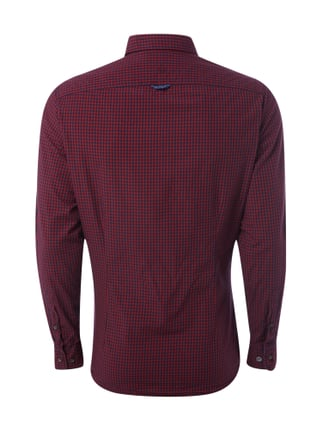 Colours & Sons Slim Fit Freizeithemd mit Button-Down-Kragen Bordeaux Rot - 1