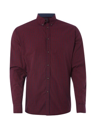 Slim Fit Freizeithemd mit Button-Down-Kragen Rot - 1