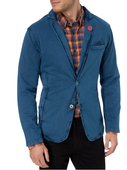 Colours & Sons Sweatsakko mit fallendem Revers Dunkelblau - 1
