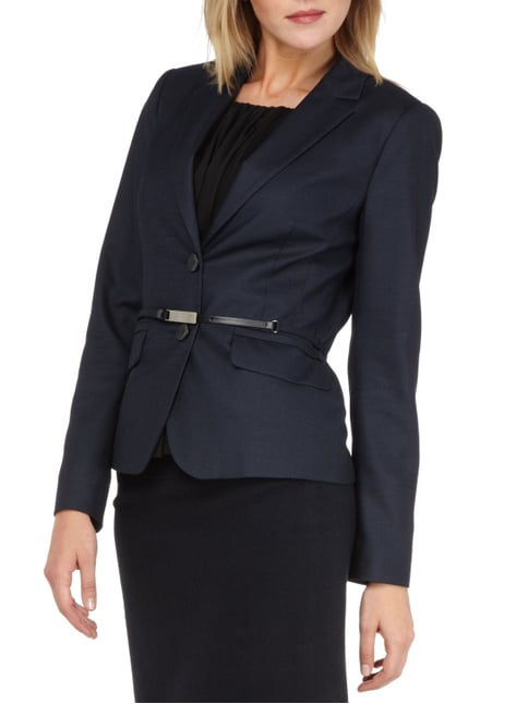 comma Blazer mit Webstruktur Marineblau - 1