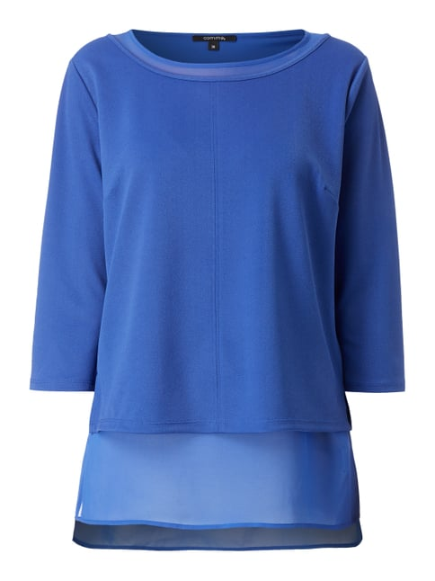 Blusenshirt im Double-Layer-Look Blau / Türkis - 1