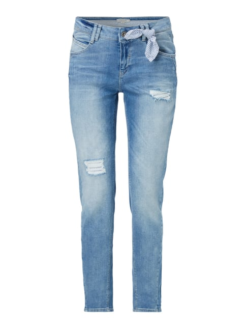 Boyfriend Fit Jeans im Destroyed Look Blau / Türkis - 1