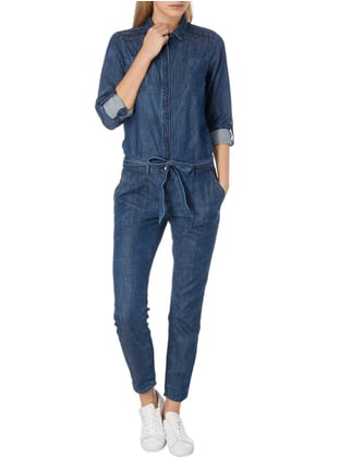 comma Casual Identity Overall aus Denim in Blau / Türkis - 1