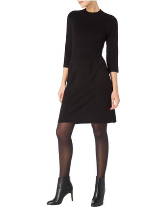 comma Casual Identity Strickkleid im Rock-Top-Look in Grau / Schwarz - 1