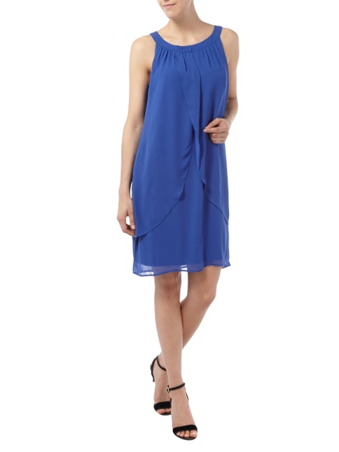 comma Kleid aus Chiffon in Wickeloptik in Blau / Türkis - 1