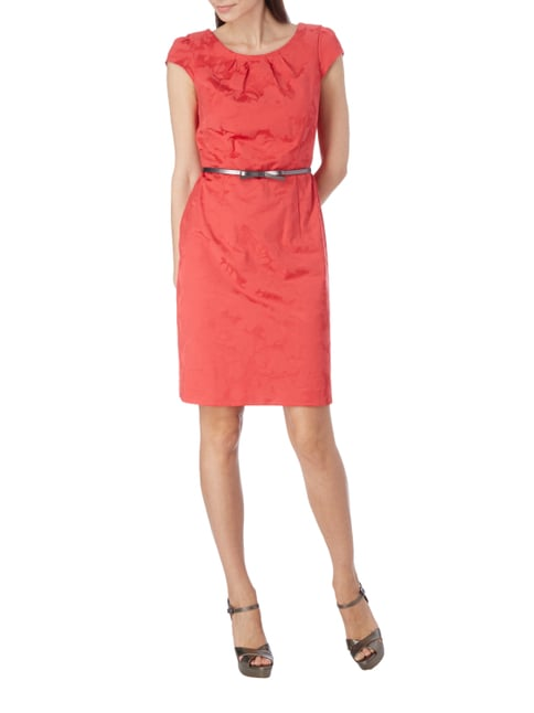 comma Kleid mit floralem Muster in Rot - 1