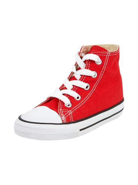 High Top Sneaker aus Canvas Rot - 1