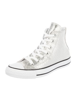 High Top Sneaker 'CTAS Hi' in Metallicoptik Grau / Schwarz - 1