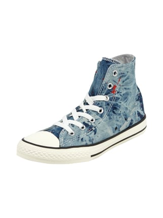 High Top Sneaker in Denimoptik Blau / Türkis - 1
