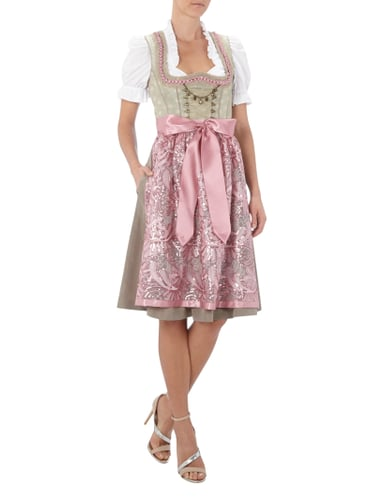 country line dirndl mit pailletten an der sch rze in wei. Black Bedroom Furniture Sets. Home Design Ideas