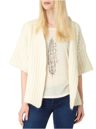 Delicate Love Strickcardigan mit 1/2-Arm Offwhite - 1