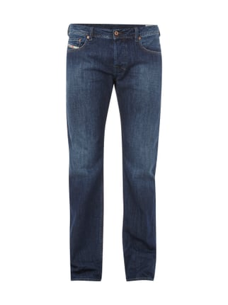 Regular Bootcut Jeans im Stone Washed Look Blau / Türkis - 1