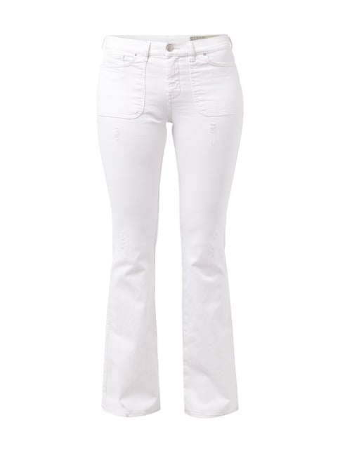 Regular Slim-Bootcut 5-Pocket-Jeans Weiß - 1
