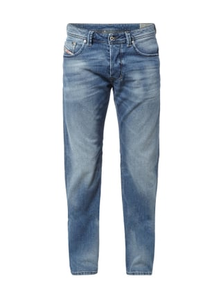 Regular-Straight Fit Stone Washed Jeans Blau / Türkis - 1