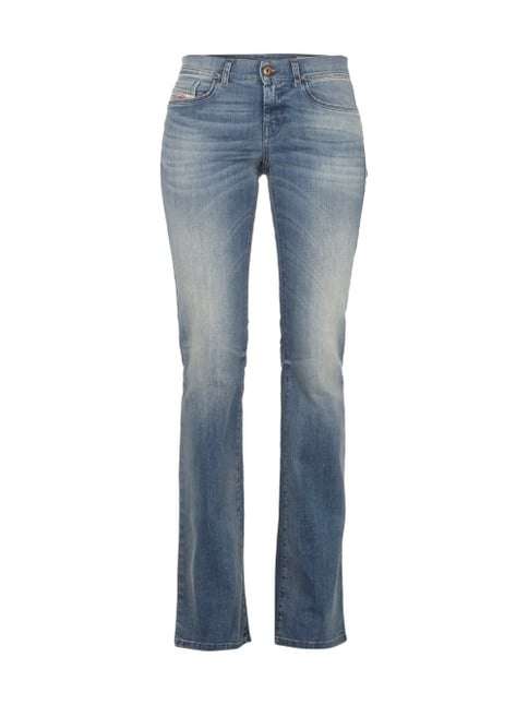 Stone Washed Bootcut 5-Pocket-Jeans Blau / Türkis - 1