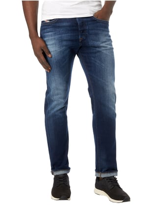 Diesel Stone Washed Regular Fit 5-Pocket-Jeans Jeans - 1