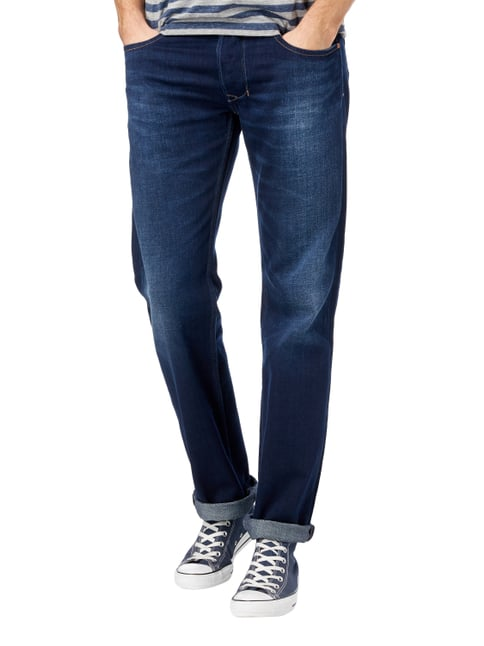 Diesel Straight Fit 5-Pocket-Jeans im Used Look Jeans - 1