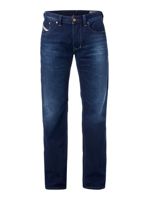Straight Fit 5-Pocket-Jeans im Used Look Blau / Türkis - 1