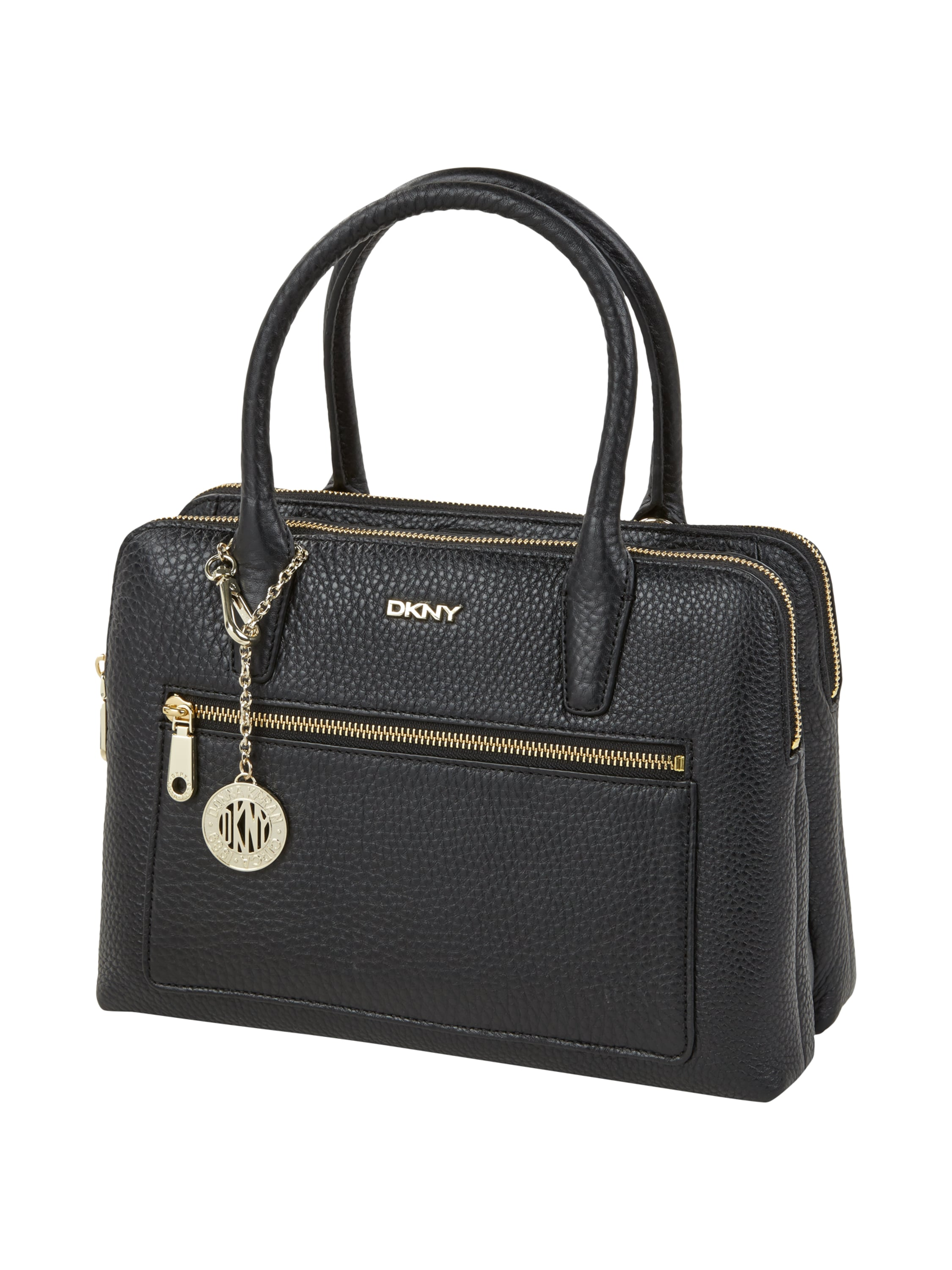 dkny leder handtasche mit vielen f chern in grau schwarz online kaufen 9162463 p c online shop. Black Bedroom Furniture Sets. Home Design Ideas