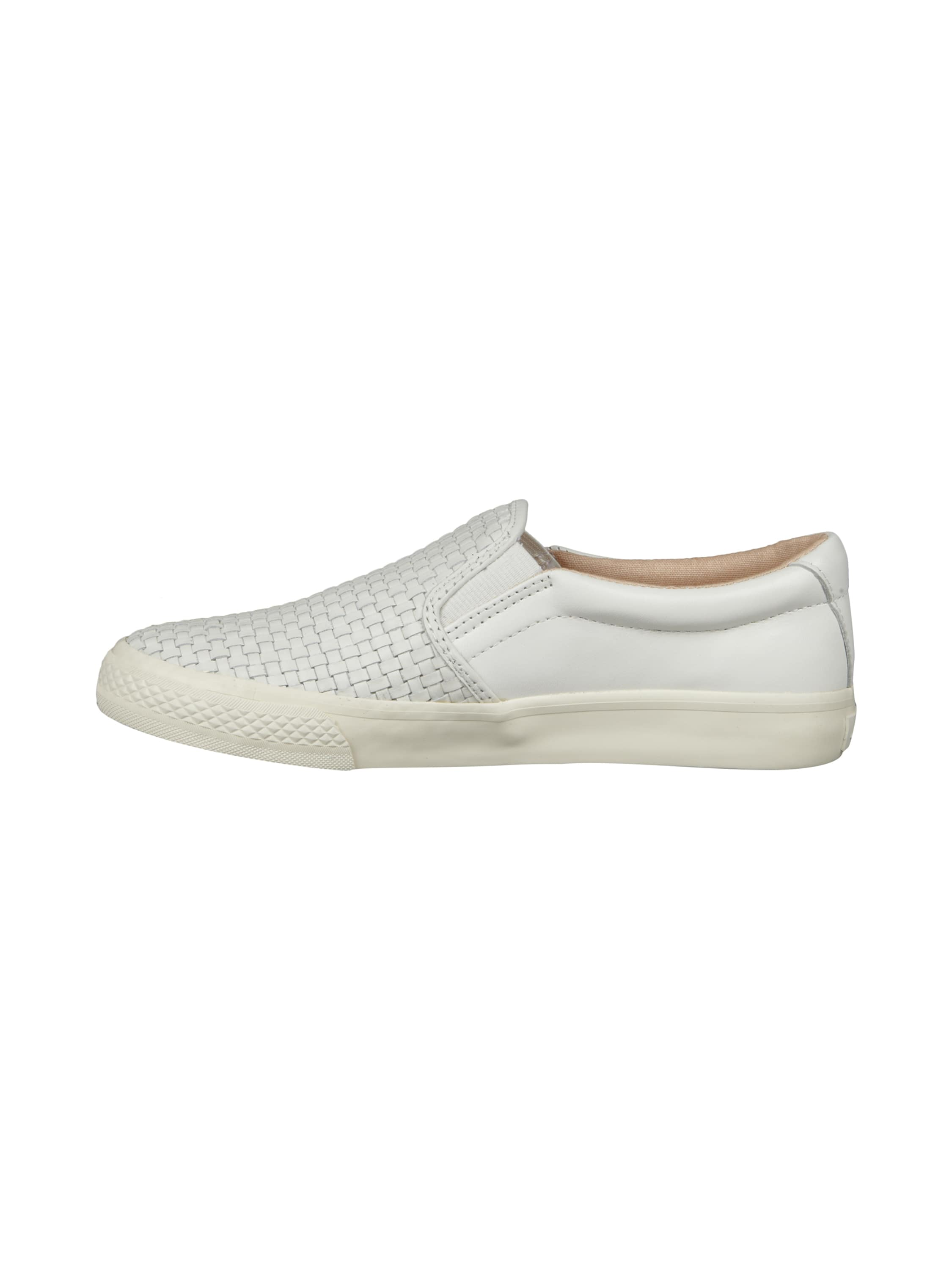 dkny slip on sneaker aus leder in wei online kaufen 9218601 p c online shop. Black Bedroom Furniture Sets. Home Design Ideas