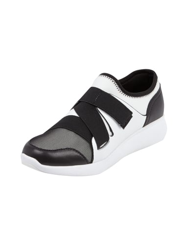 startseite damen schuhe sneaker dkny sneaker mit klettverschluss aus. Black Bedroom Furniture Sets. Home Design Ideas