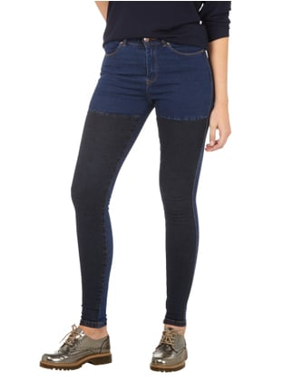 Dr. Denim Coloured High Waist Second Skin Fit Jeans Dunkelblau - 1